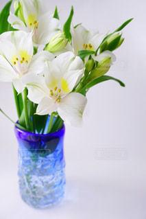 紫色の花一杯の花瓶の写真・画像素材[1131876]