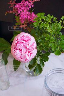テーブルの上の花の花瓶 - No.1205781