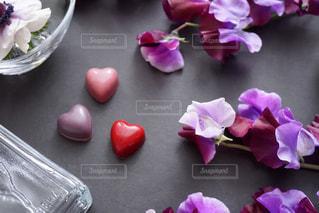 近くの花のアップの写真・画像素材[1672088]