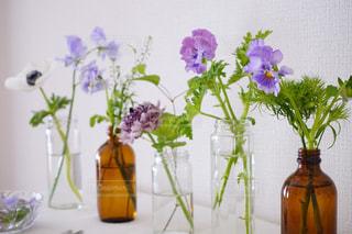 テーブルの上の花の花瓶の写真・画像素材[1794828]