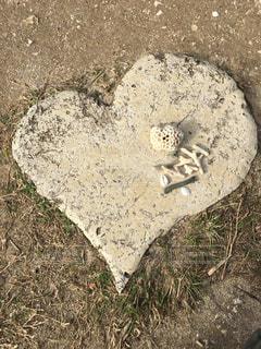 ハート型の石の写真・画像素材[343366]
