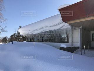 雪とつららの写真・画像素材[343840]
