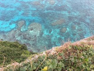 水中山の側面観の写真・画像素材[707677]