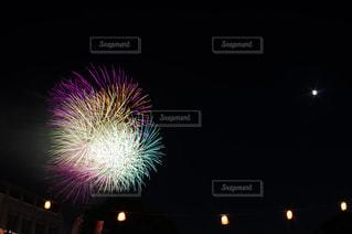 夜空の花火の写真・画像素材[741880]