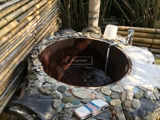 今や珍しい五右衛門風呂の写真・画像素材[345462]