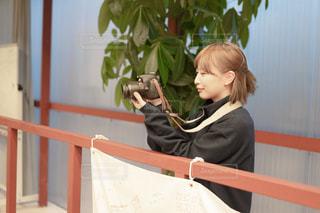 カメラ女子の写真・画像素材[2886797]