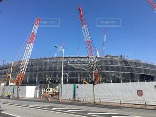 建設中の新国立競技場です!の写真・画像素材[1079727]