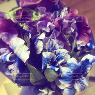 青系の花束💐の写真・画像素材[1074831]