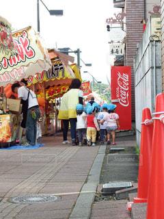 子供たちもお祭り大好きの写真・画像素材[1492210]