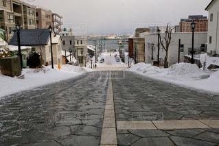 冬の八幡坂 函館の写真・画像素材[1825987]