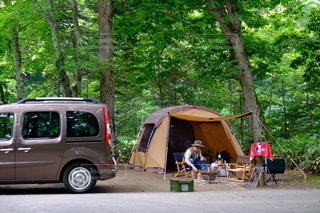 森林キャンプの写真・画像素材[3535682]