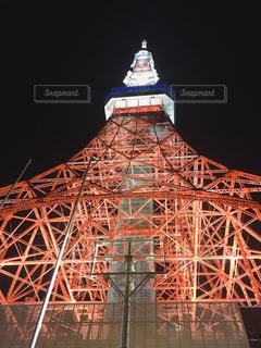 東京タワーを下からの写真・画像素材[2457850]