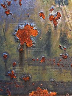 壁 かべ サビ 錆びの写真・画像素材[346666]