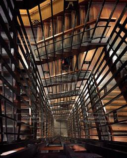 螺旋階段の写真・画像素材[385687]
