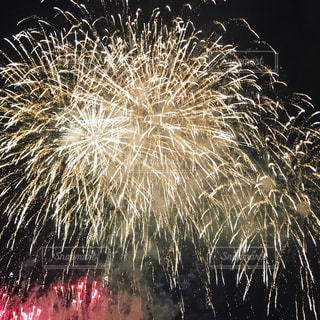 空に花火の写真・画像素材[938476]