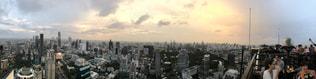 都市の上空からの眺めの写真・画像素材[2096121]