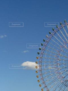 観覧車と雲の写真・画像素材[888824]
