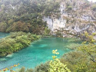 プリトヴィツェ 雨 クロアチア  国立公園の写真・画像素材[1458585]