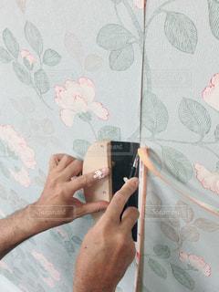 壁紙貼り替えの写真・画像素材[1483759]