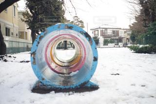 誰もいない真冬の公園の写真・画像素材[1093309]