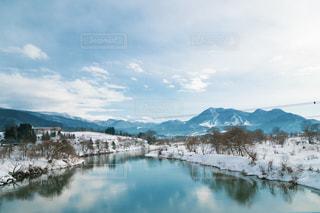 ある雪国の風景の写真・画像素材[1741992]