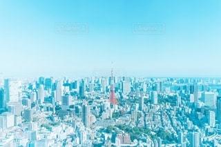 青い空と東京タワーの写真・画像素材[2725195]