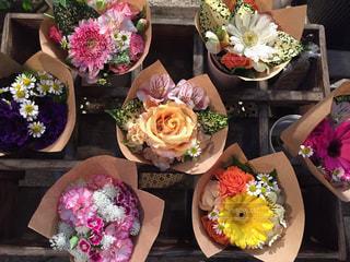 色々な花束の写真・画像素材[1136542]