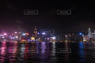 香港の夜景の写真・画像素材[1137293]