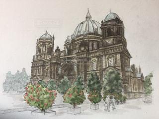 絵画 ベルリン大聖堂 (ドイツ)の写真・画像素材[1840504]