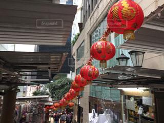 香港の赤いランタンの写真・画像素材[2179686]