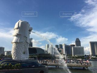 シンガポールのマーライオンの写真・画像素材[2223306]