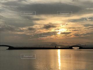 琵琶湖上空の写真・画像素材[686965]