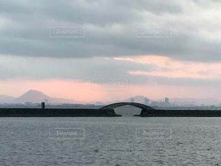琵琶湖上空の写真・画像素材[724851]