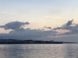 琵琶湖上空の写真・画像素材[739541]