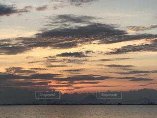 琵琶湖と日の出の写真・画像素材[739550]