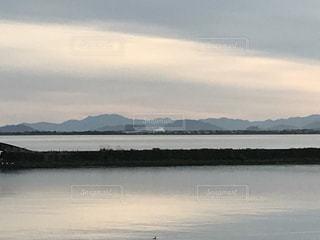琵琶湖と雲の写真・画像素材[752341]