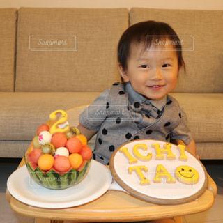 2歳誕生日の写真・画像素材[1181752]