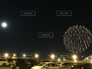 夜空の花火の写真・画像素材[848978]