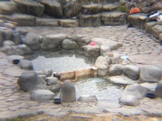 温泉 露天風呂 混浴 下呂温泉の写真・画像素材[359169]