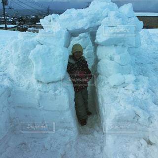 雪の家の写真・画像素材[366868]