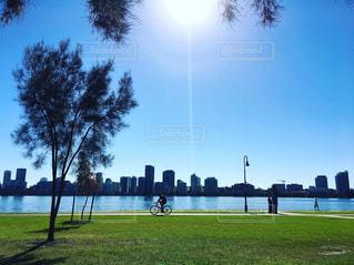 オーストラリア パースの街並みとスワン川の写真・画像素材[1218909]