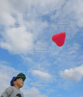 曇りの日に凧の飛行男の写真・画像素材[868861]
