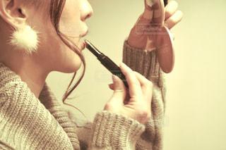 彼女の歯を磨く女性の写真・画像素材[1813696]