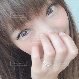 女の子のクローズアップの写真・画像素材[2308829]