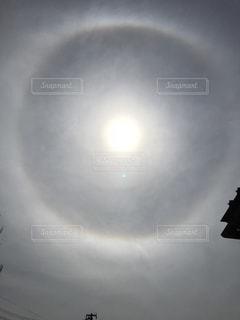 太陽の周りにハロ現象と言われる虹色の輪と環水平アークが山形市にも出現! - No.1197020