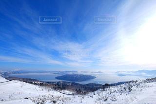 冬の屈斜路湖の写真・画像素材[366180]