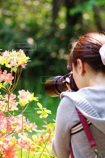 マクロ女性の写真・画像素材[366215]