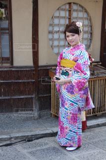 女性,モデル,京都,Smile,スマイル,女の子,着物,笑顔,ポートレート,寺,お散歩,一眼レフ,振袖,canon,カメラ目線,成人式,colorful,妹,着物女子,レディー
