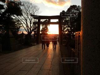 夕日の写真・画像素材[372459]