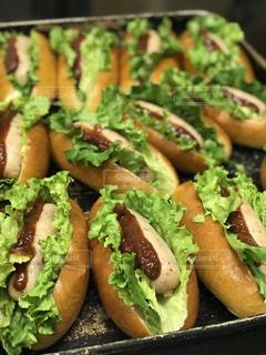 肉と野菜のサンドイッチの写真・画像素材[1037965]